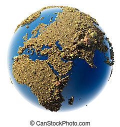 terra pianeta, sabbioso