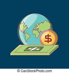 terra pianeta, soldi