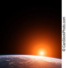 terra pianeta, sole
