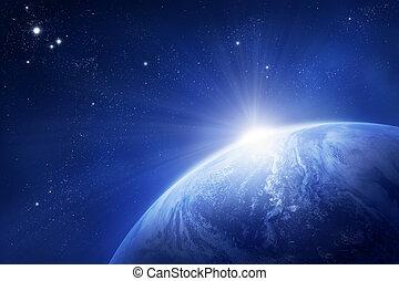 terra pianeta, sole sorgente