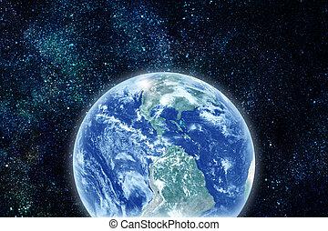 terra pianeta, spazio, realistico