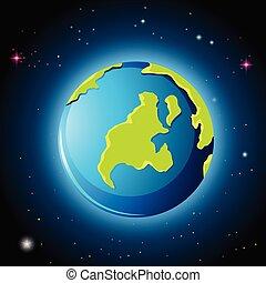 terra pianeta, spazio