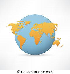 terra pianeta, vettore, icona