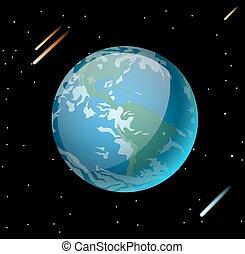 terra pianeta, vettore, illustrazione, 3d