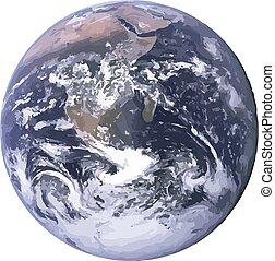terra pianeta, vettore