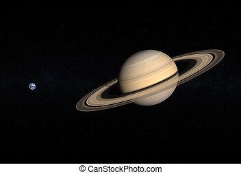 terra, saturno, pianeti