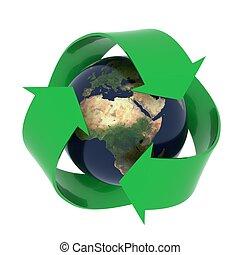 terra, simbolo, riciclaggio