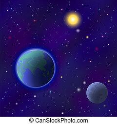 terra, spazio, seamless