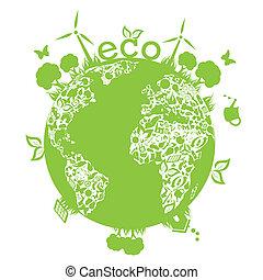 terra, verde, pulito