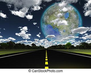 terraformed, visto, luna, terra