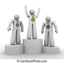 terzo, -, secondo, vincitori, posto, medaglie, primo
