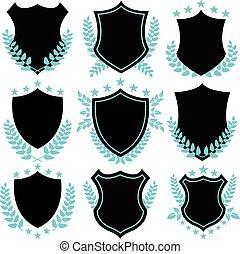 tesserati magnetici, scudo, vendemmia, forme