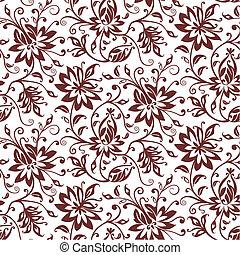 tessile, floreale, vettore, fondo