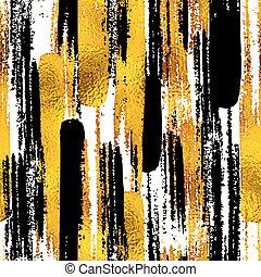 tessiture, schizzo, eps10, elements., oro, disegnato, scarabocchiare, seamless, illustrazione, mano, blog, vettore, disegno, fondo, inchiostro, trendy, nero