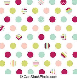 tessuto, polka, seamless, puntino, modello