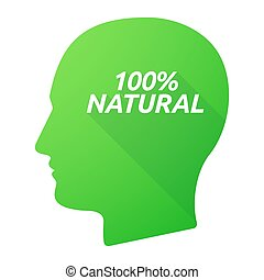 testa, 100%, isolato, uggia, lungo, naturale, testo, maschio