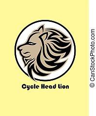 testa, ciclo, logotipo