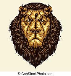 testa, leone, mascotte