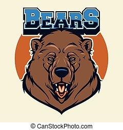 testa, orso, mascotte