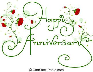 testo, anniversario, felice