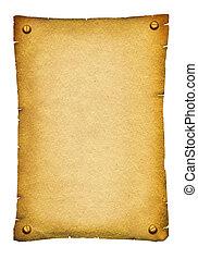 testo, carta, oggetto antiquariato vecchio, fondo, rotolo, texture., bianco