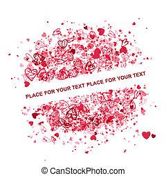 testo, cornice, valentina, disegno, posto, tuo