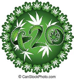 testo, disegno, simbolico, 420, marijuana