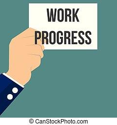 testo, esposizione, lavoro, carta, progresso, uomo