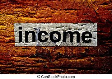 testo, grunge, fondo, reddito