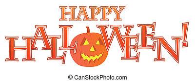 testo, halloween, disegno, felice