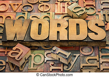 testo, legno, tipo, parole