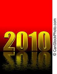 testo, nero, 2010, rosso, 3d