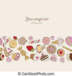 testo, posto, tuo, fondo, dolci