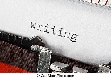 testo, scrittura, retro, macchina scrivere