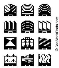 tetti, industriale, vario, tipi