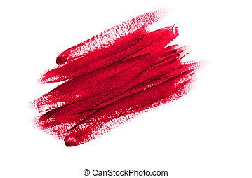 textured, sangue, bianco, colpi, vernice, rosso, luminoso, astratto, colorare, dipinto, spazzola, acrilico, fondo., isolato