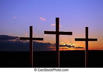 thee, croci, tramonto