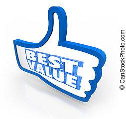 thumb's, valutazione, riempirsi, valore, punteggio, qualità, meglio