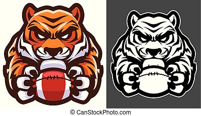 tiger, football americano, mascotte