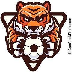 tiger, football calcio, mascotte