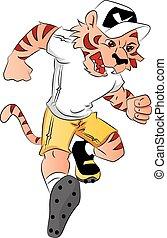 tiger, mascot., vettore