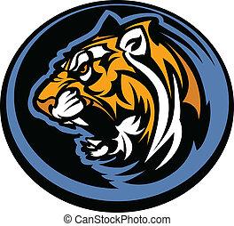 tiger, mascotte, grafico