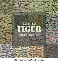 tiger, modelli, striscia, camuffamento, seamless