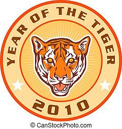 tiger, nuovo, icona, 2010, anno