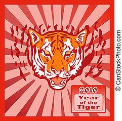 tiger, nuovo, sunburst, 2010, anno