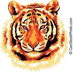 tiger, rosso