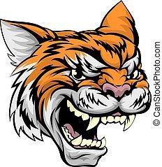 tiger, sport, mascotte