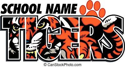 tigri, disegno, scuola