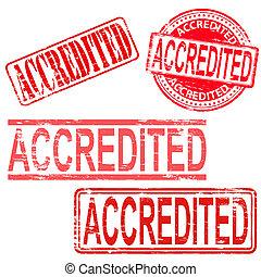 timbri gomma, accredited