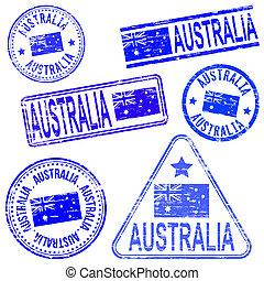 timbri gomma, australia
